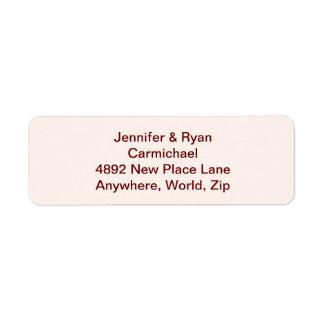 Personalized Bride & Groom Return Address Labels