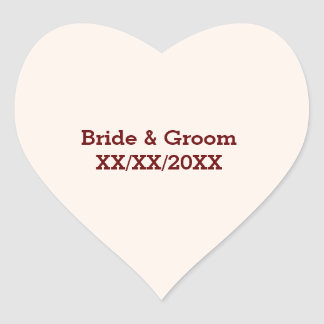 Personalized Bride & Groom Wedding Stickers
