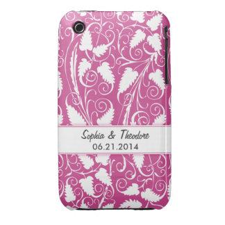 Personalized Bride & Groom Wine Vine iPhone 3 Case