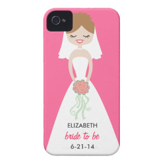 Personalized Bride iPhone 4 Case-Mate Barely There iPhone 4 Case-Mate Cases