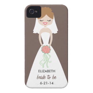 Personalized Bride iPhone 4 Case-Mate Barely There iPhone 4 Covers