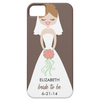Personalized Bride iPhone 5 Case-Mate Barely There iPhone 5 Covers