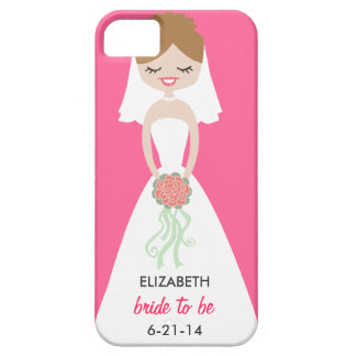 Personalized Bride iPhone 5 Case-Mate Barely There iPhone SE/5/5s Case