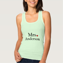 Personalized Bride Tank Top