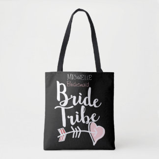 Personalized bride tribe tote bag
