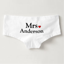 Personalized Bride Underwear