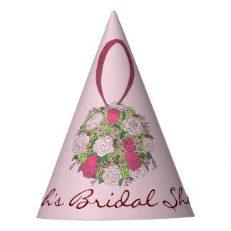 Personalized Bride Wedding Bouquet Bridal Shower Party Hat
