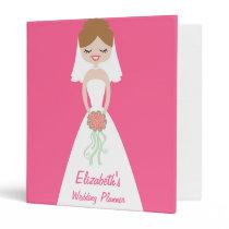 Personalized Bride Wedding Planner Binders