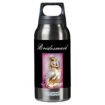 personalized bridesmaid mermaid insulated water bottle