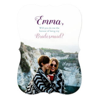 [Personalized] Bridesmaid Proposal Photo Invitation