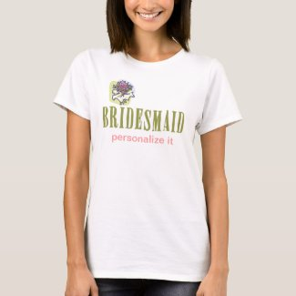 Personalized Bridesmaid shirt