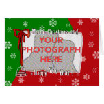 Personalized Bright and Cheerful Christmas Photo Greeting Cards