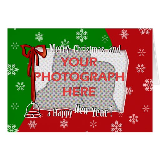 Personalized Bright and Cheerful Christmas Photo Card