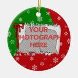 Personalized Bright and Cheerful Christmas Photo Ornaments