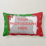 Personalized Bright and Cheerful Christmas Photo Throw Pillows