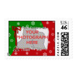 Personalized Bright and Cheerful Christmas Photo Stamp