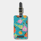 Personalized | Bright Blooms Luggage Tag