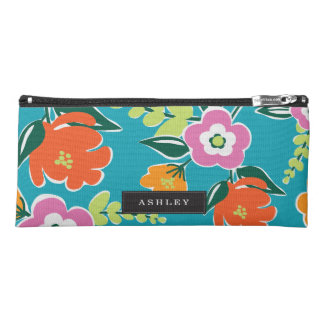 Personalized | Bright Blooms Pencil Case