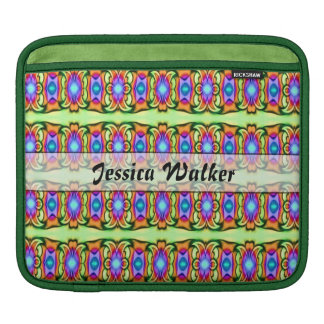 personalized bright green colorful fancy design sleeve for iPads