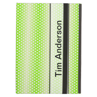 Personalized Bright Lime Green Stripe Pattern Cover For iPad Air