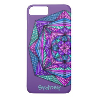 Personalized Bright Mandala iPhone 7 Plus Case