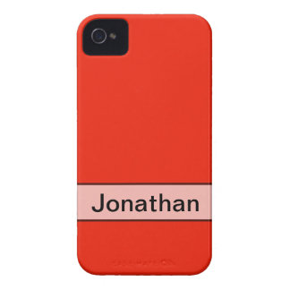 Personalized bright orange red color iPhone 4 Case-Mate case