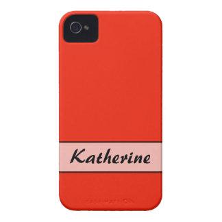 Personalized bright orange red color blackberry bold cases