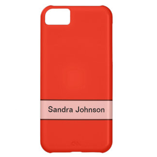 Personalized bright orange red color iPhone 5C cover
