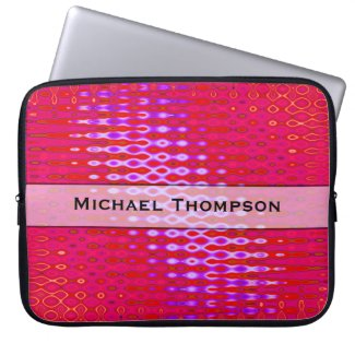 Personalized bright pink pattern computer sleeve