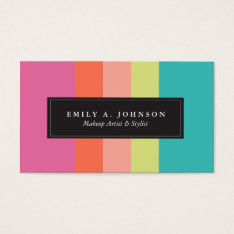 Personalized | Bright Stripes Business Card at Zazzle