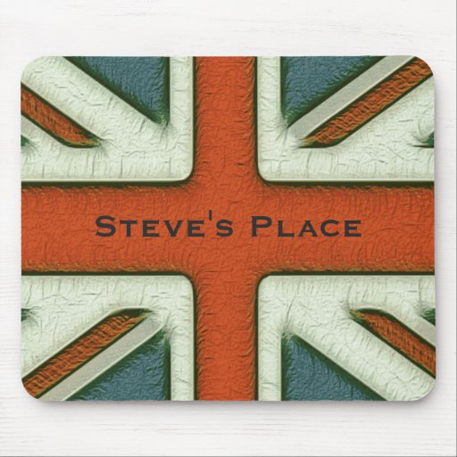 Personalized British Flag Mouse Pad