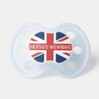 Personalized British Flag Royal Prince Baby Pacifier