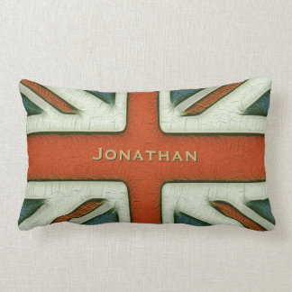 Personalized British Flag Throw Pillows