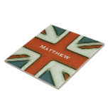 Personalized British Flag Tiles
