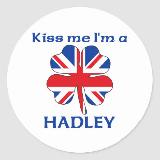 Personalized British Kiss Me I m Hadley Stickers