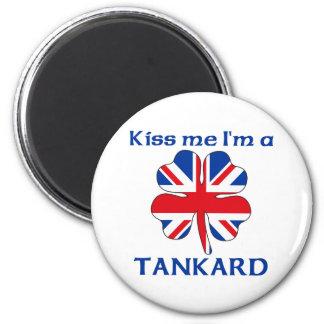 Personalized British Kiss Me I m Tankard Magnets