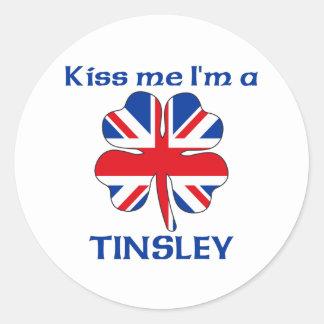 Personalized British Kiss Me I m Tinsley Sticker