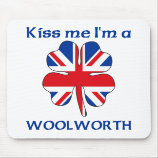 Personalized British Kiss Me I m Woolworth Mouse Pads
