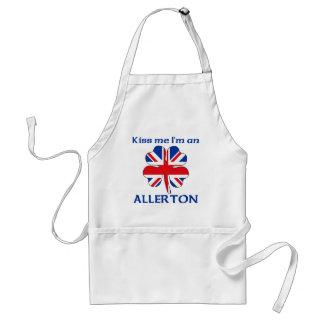 Personalized British Kiss Me I'm Allerton Apron