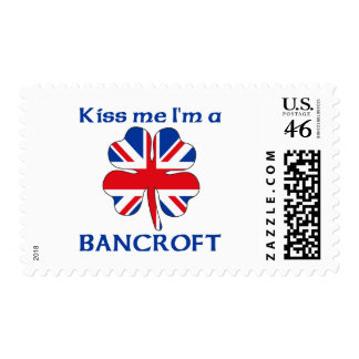 Personalized British Kiss Me I'm Bancroft Postage Stamps