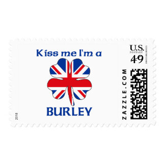 Personalized British Kiss Me I'm Burley Postage Stamps