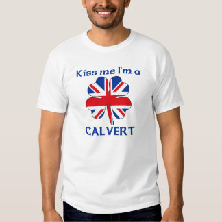 Personalized British Kiss Me I'm Calvert T Shirt