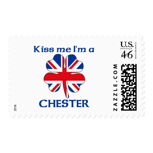 Personalized British Kiss Me I'm Chester Postage Stamps
