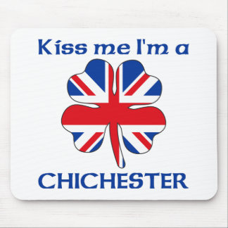 Personalized British Kiss Me I'm Chichester Mouse Mats