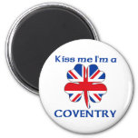 Personalized British Kiss Me I'm Coventry Refrigerator Magnet