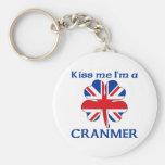 Personalized British Kiss Me I'm Cranmer Key Chains