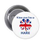 Personalized British Kiss Me I'm Hare Pin