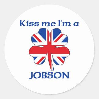 Personalized British Kiss Me I'm Jobson Sticker