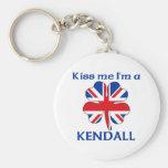 Personalized British Kiss Me I'm Kendall Keychain