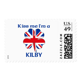 Personalized British Kiss Me I'm Kilby Postage Stamps